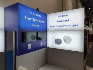 Fizoptika smallest fiber optic gyroscopes at DSEI 2019